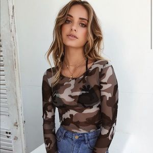 Camo Top from Tiger Mist